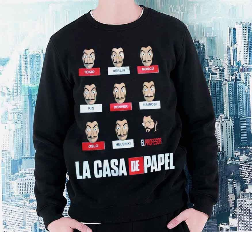 34c20fa9c9876 La Casa De Papel Sweat   Rockpark